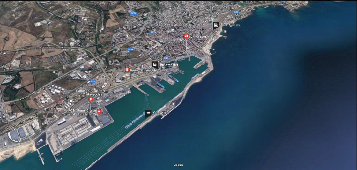 Rome cruise port guide how to get from civitavecchia to rome - Cruise port rome civitavecchia ...
