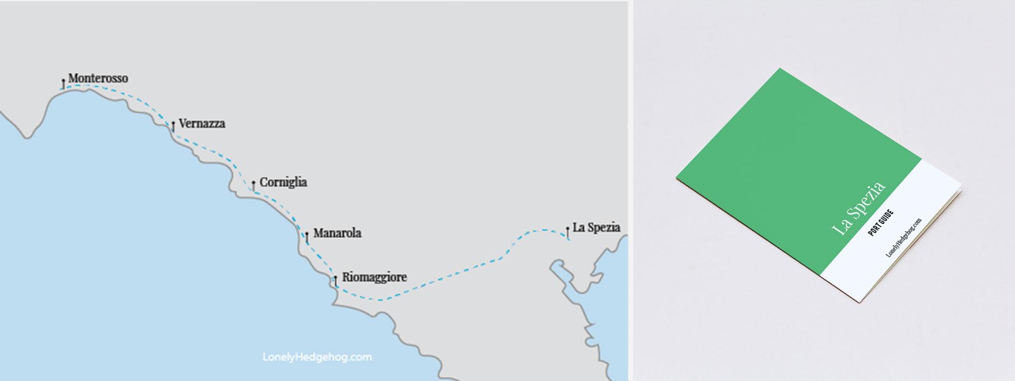 La Spezia printable map